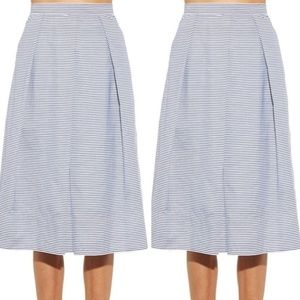 Tibi Simona full plated skirt striped